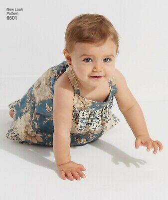 Large 6385 BABIES/' DRESS ROMPER /& PANTIES Sewing pattern NEW LOOK Ages Newborn