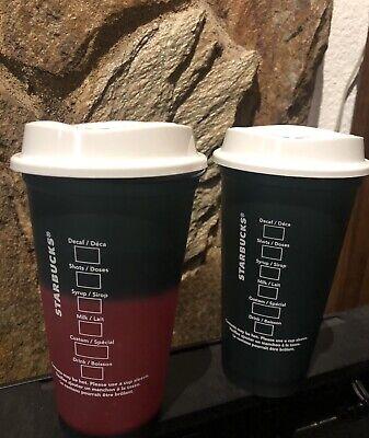 Starbucks 2020 Christmas Plastics Reusable Color Change Hot Cup 16oz Collectible