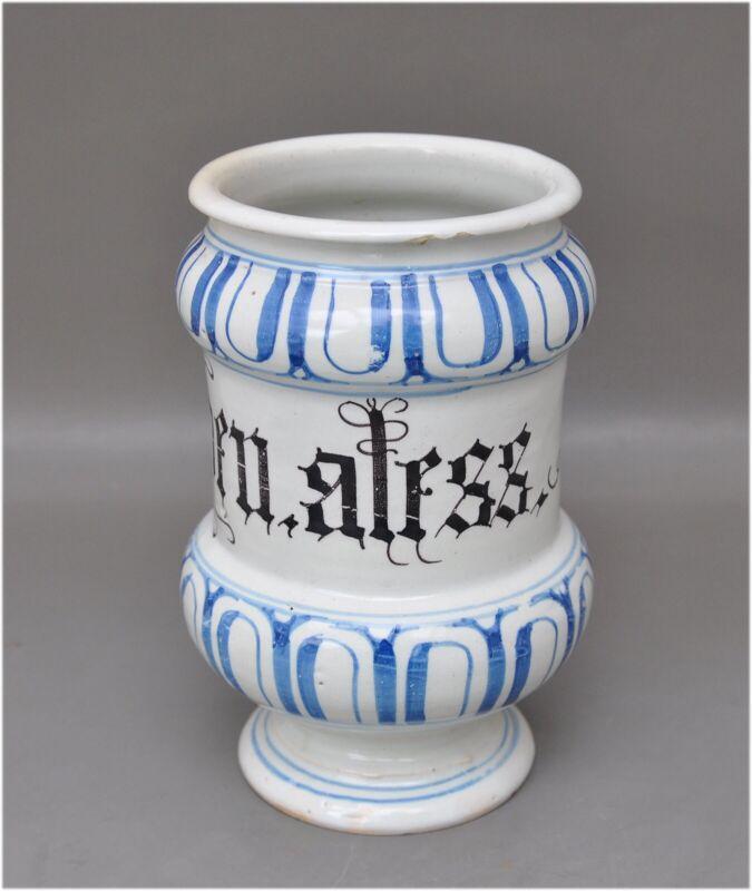Antikes Apothekengefäß - Emp. diaphen. aless - Keramik 18. Jh. - gemarkt 3