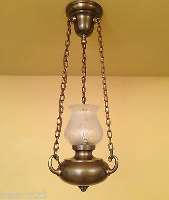 Vintage Lighting matched pair early electric pendants circa 1915 2