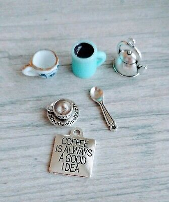 Religious Stainless Steel Charm Fueled by Caffeine /& Prayer BFS5282