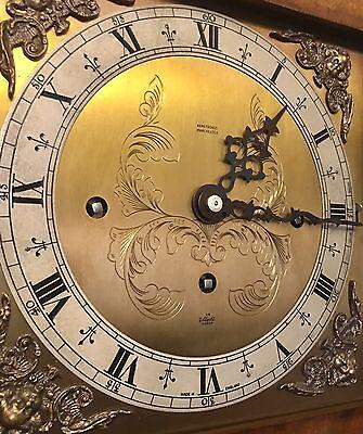 Elliott WESTMINSTER CHIME Burr Walnut Grandmother Miniature Grandfather Clock 8