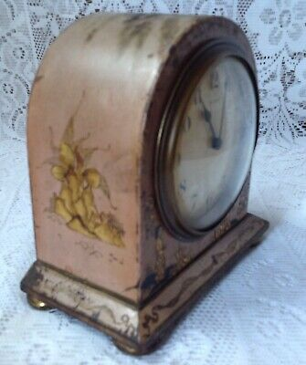 Antique Japanned Bayard D-B. 8 Day Lever Movement French Clock 6