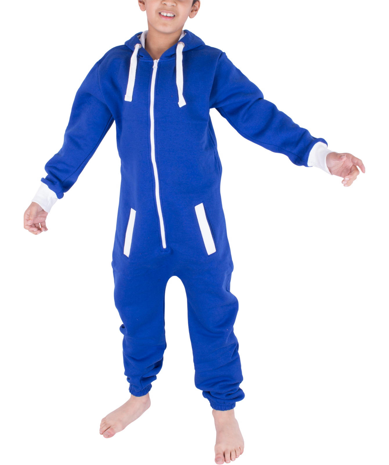 Kids Boys Girls Plain Hooded 1Onesie All in one Jumpsuit Playsuit Sizes 7-13 YRS 7