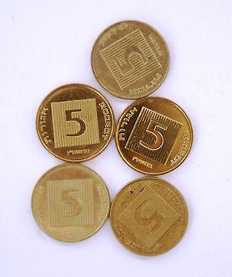 5 Ancient Widow/'s Widows Mite Mites on Modern Israel Israeli 5 Agorot Coins LOT