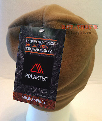 Usgi Polartec Army Microfleece Cap Coyote Polartec Hat Fleece Cap Beanie Ecw New