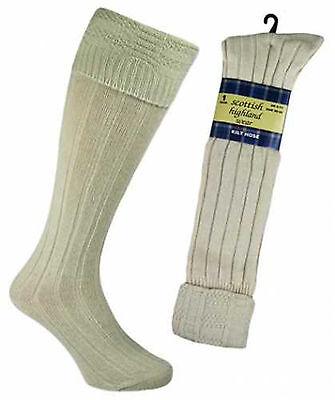 Mens 65% Wool Blend Traditional Long Hose Scottish  Kilt Socks
