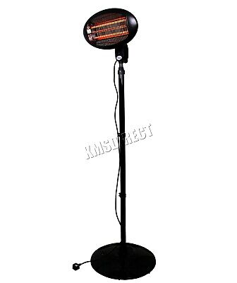 WestWood Standing Patio Heater – Outdoor Garden Electric Heating Quartz - 2KW 4