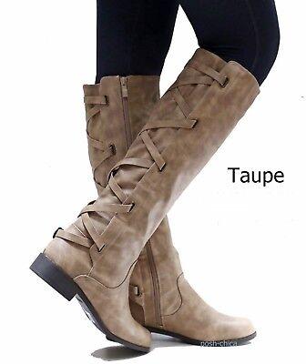 54312a7b62c NEW WOMEN ECD Brown Black Buckle Riding Knee High Cowboy Boots 5.5 to 11