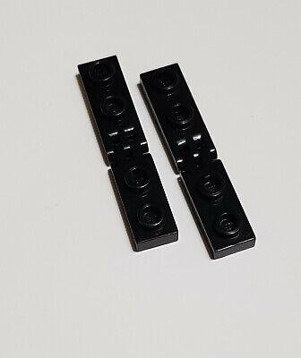 4 x Stange 2433 3 Finger schwarz  = 4 Paar LEGO 4 x Fliese Scharnier 4531 1x2