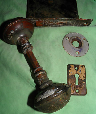 Antique Eastlake Brass Door Knobs Orbin Hardware Locksets Victorian BIN Save $$ 2