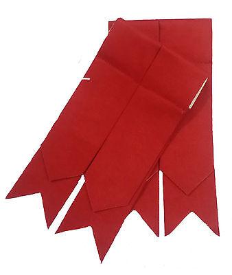 H.M Kilt Mens Kilt Hose Flashes Red Color//Highland Red Kilt Hose Socks Flashes