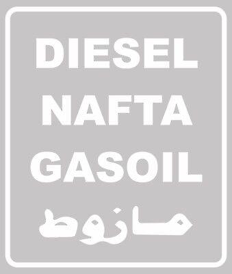 Diesel Nafta Gasoil Aufkleber Zb Defender G Klasse Unimog Land Rover Mog