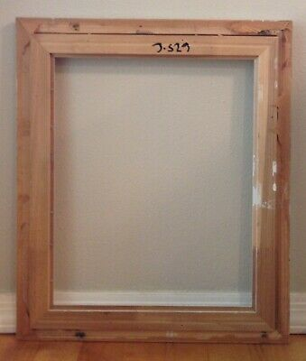 "Vintage Wooden Picture Frame Ornate Corners Shabby Chic 25.5"" x 21.5"" Pink White 6"