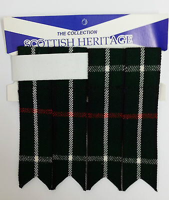 Mackenzie Modern Tartan  Adult Garter Sock Scottish Kilt Flashes 4 Kilts Sporran 3