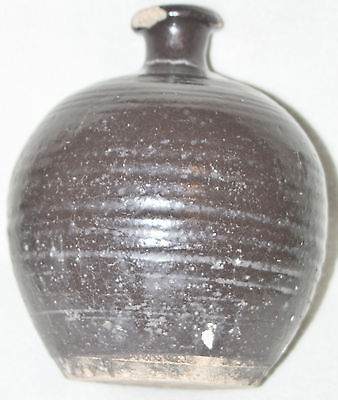 Chinese 14th-15th Century Dark Brown Glaze Large Rounded Body Small Neck Jar 5