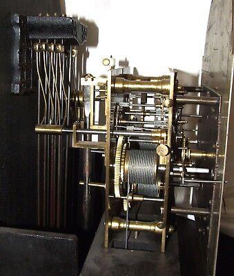Antique Musical Chiming Mahogany Longcase Grandfather Clock LISTER & SONS 12