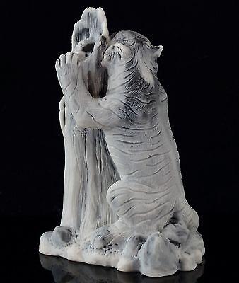"Amur Siberian Tiger Marble Stone Figurine Sculpture Russian Art Animal Statue 4"" 2"