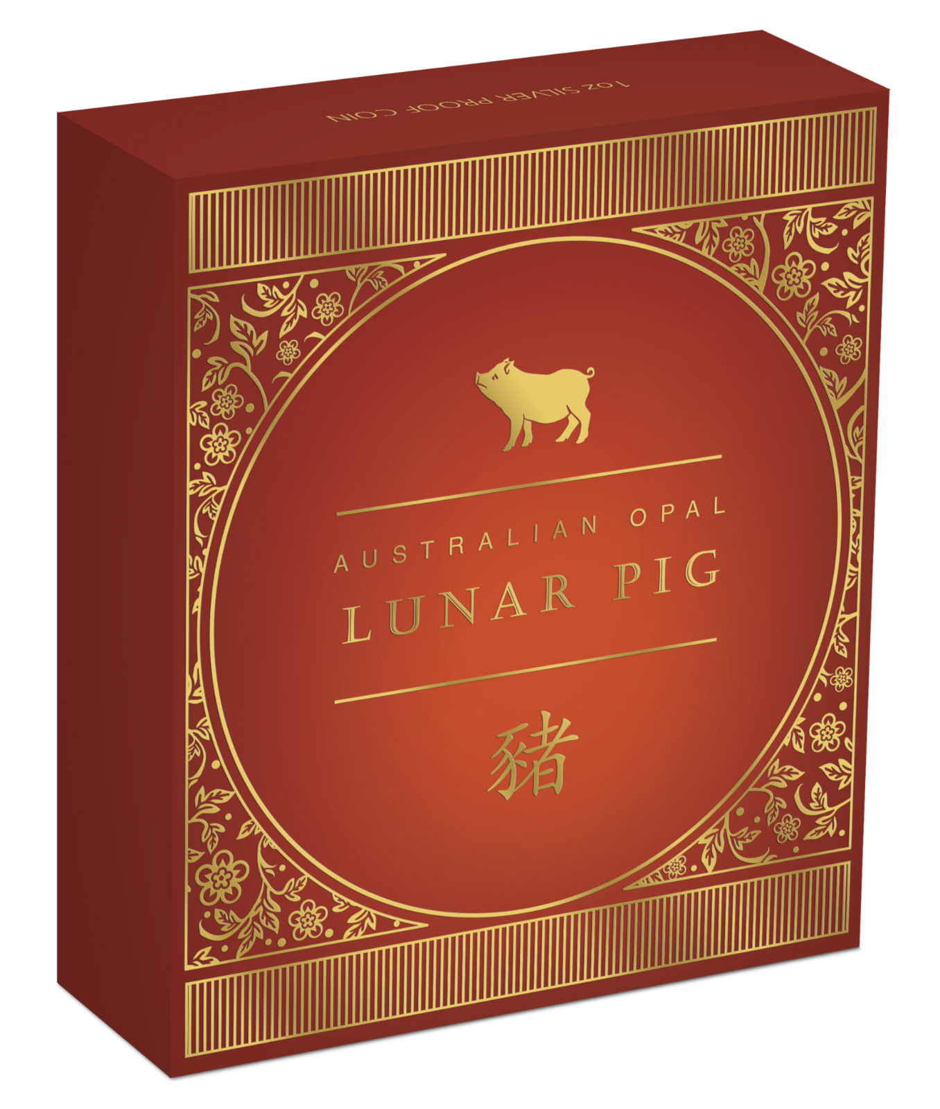 2019 Australia Opal Series Lunar Year of the PIG 1oz Silver Proof $1 Coin 3