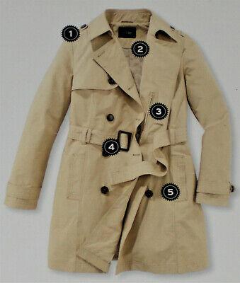 38 52 NEU!!! Damen Trenchcoat Jacke sand Gürtel Gr 44 40 48