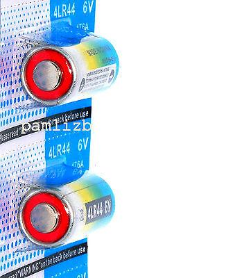 2x 4LR44  PX28A  6V  Alkaline batteries   A544  4G13  476A  ,  0% Hg battery