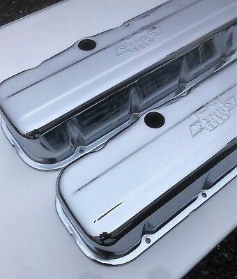 Chevrolet BBC CHROME Steel TALL Valve Covers YENKO EMBOSSED LOGO NEW PAIR