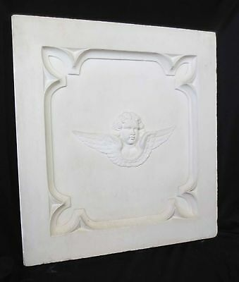 Antique Architectural Religious Italian Carved Marble Altar Angel/Cherub PANEL#2 3