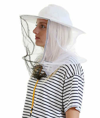 2 x Beekeeping White cotton bee hat and Veils with TOGGLE 2 • EUR 17,44