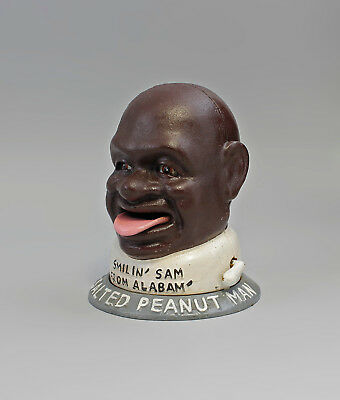 "9973040 Cast Iron Figure Money Box Mechanical Negro "" the Peanut Man "" 2"
