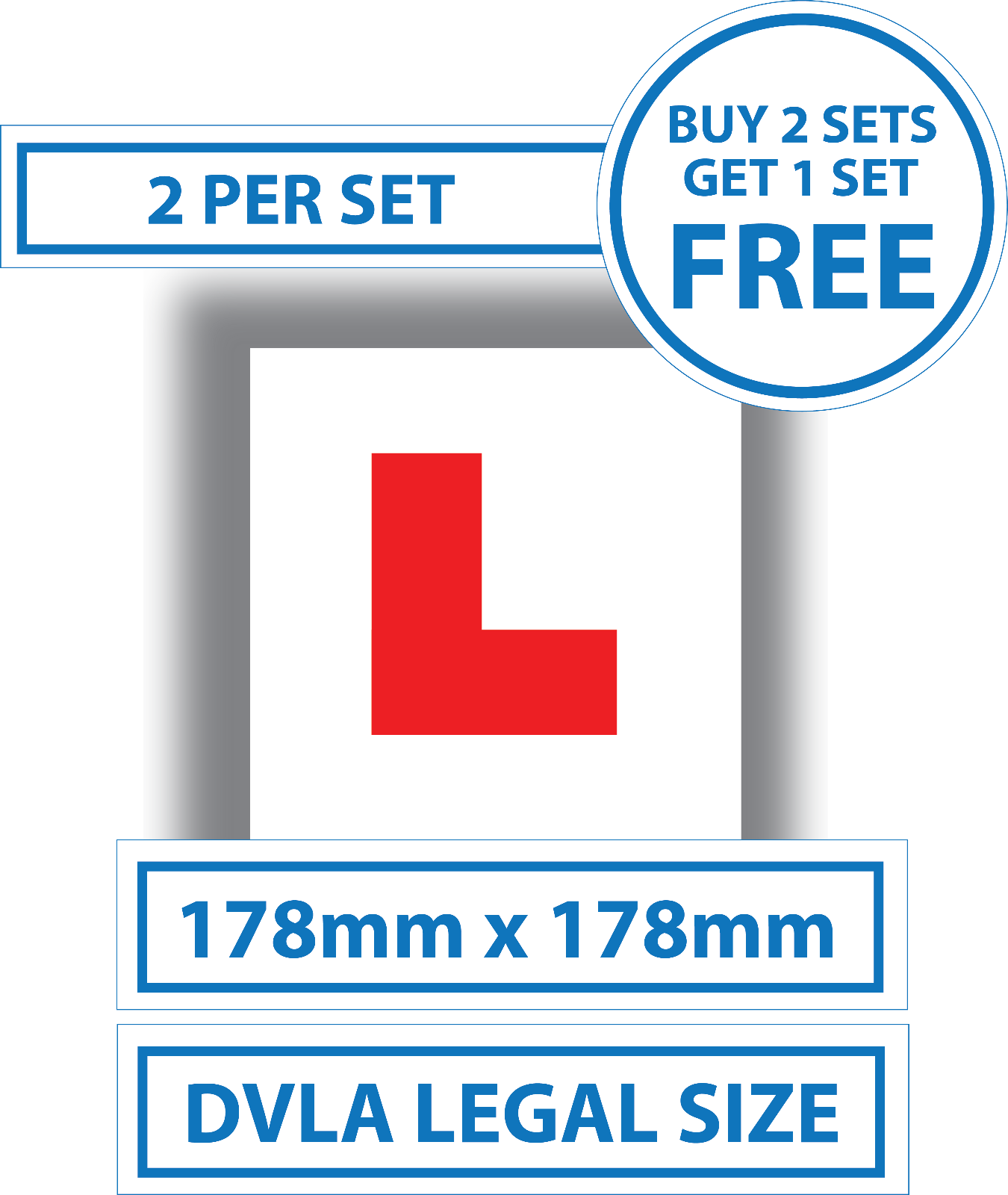2x Learner Driver Plastic Signs DVLA Legal Size Motorcycle London L PLATE  archives.midweek.com