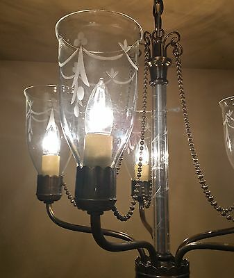 Vintage Lighting extraordinary 1940s chandelier by Lightolier 4