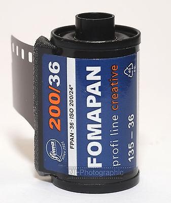 Fomapan 200 Cheap Black & White Film 35mm 36 Exp 3 Rolls Expiry Date 03/2022 2