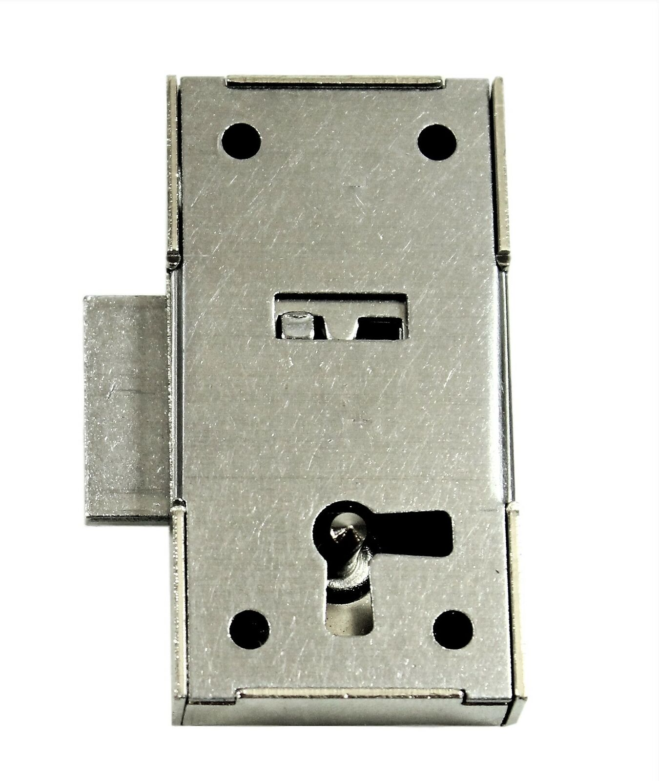 1 Schrankschloss M/öbelschloss Aufschraubschloss Metall vernickelt 15mm mit Schl/üssel