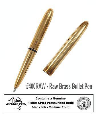 Fisher Space Pen #400RAW / Raw Brass Classic Bullet Pen 8