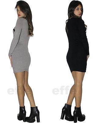 ... Maxipull miniabito donna vestito maxi maglia abito con stass pullover  nuovo 1506 6 bd65c9e3210