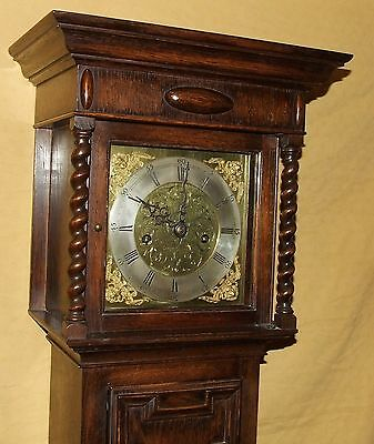 Antique 8 Day Miniature Grandfather / Grandmother Clock : Weight Driven Movement 2