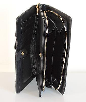 ffe29ba84f ... PORTAFOGLIO BORSELLO donna NERO zip oro borsellino da borsa pochette  clutch A12 3