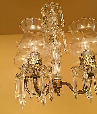 Vintage Lighting 1940s petite crystal chandelier 2 • CAD $1,195.43