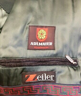 ☛ Dunkelgraue lange Trachten Jacke im Schladminger Stil Adlmaier Gr.: 26 ☚ 9