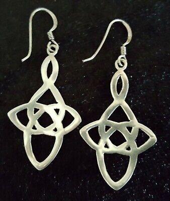 Sterling silver vintage Art Deco antique Celtic Knot earrings A 6