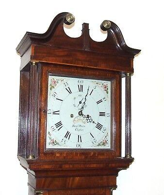 ~ Antique Oak & Mahogany Grandfather Longcase Clock BENJAMIN PEERS CHESTER 4
