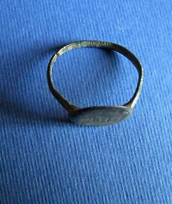 Ancient -  Byzantine Bronze Finger Ring 3