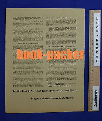Original Flugblatt aus dem Arbeitskampf im graphischen Gewerbe Berlin 1923 [#11] 2