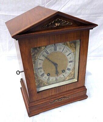 Antique Architectural LENZKIRCH Walnut TING TANG Bracket Mantel Clock : WORKING 3
