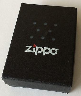 Zippo Windproof Ebony Lighter With Zippo Logo and Skulls, # 28678, New In Box