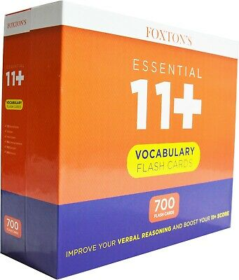Foxton's 700 Eleven Plus 11 Plus Vocabulary Flash Cards with Synonyms & Antonyms 6