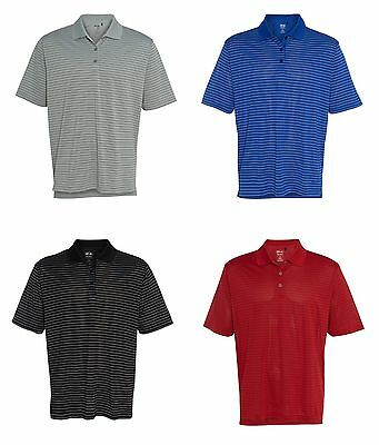 ADIDAS GOLF - Men's ClimaLite Tech, Cool Pencil Stripe Polo Sport Shirt, A60 A16 2