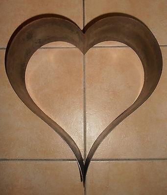 Antike, sehr große Schauform - Weißblech - Herz - 4