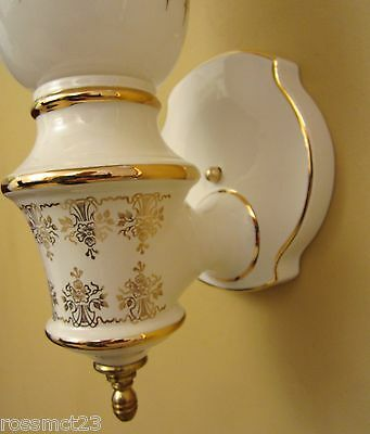 Vintage Sconces matched pair 1970s Hollywood Regency. More available 3