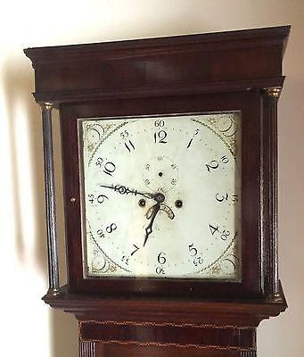 Antique Oak & Mahogany inlaid Longcase Grandfather Clock C Johnson CONGLETON 4